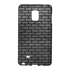 Brick1 Black Marble & Gray Leather (r) Galaxy Note Edge by trendistuff