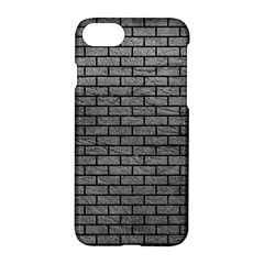 Brick1 Black Marble & Gray Leather (r) Apple Iphone 7 Hardshell Case by trendistuff