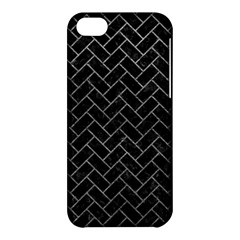 Brick2 Black Marble & Gray Leather Apple Iphone 5c Hardshell Case by trendistuff