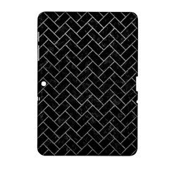 Brick2 Black Marble & Gray Leather Samsung Galaxy Tab 2 (10 1 ) P5100 Hardshell Case  by trendistuff