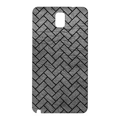 Brick2 Black Marble & Gray Leather (r) Samsung Galaxy Note 3 N9005 Hardshell Back Case by trendistuff