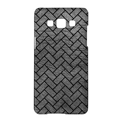 Brick2 Black Marble & Gray Leather (r) Samsung Galaxy A5 Hardshell Case  by trendistuff
