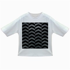 Chevron2 Black Marble & Gray Leather Infant/toddler T Shirts by trendistuff