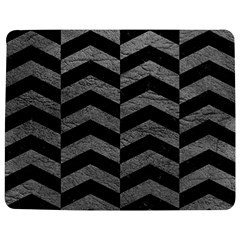 Chevron2 Black Marble & Gray Leather Jigsaw Puzzle Photo Stand (rectangular) by trendistuff