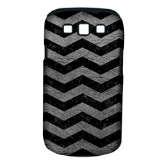 Chevron3 Black Marble & Gray Leather Samsung Galaxy S Iii Classic Hardshell Case (pc+silicone) by trendistuff