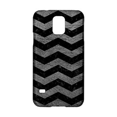 Chevron3 Black Marble & Gray Leather Samsung Galaxy S5 Hardshell Case  by trendistuff