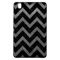Chevron9 Black Marble & Gray Leather Samsung Galaxy Tab Pro 8 4 Hardshell Case by trendistuff