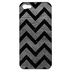 Chevron9 Black Marble & Gray Leather (r) Apple Iphone 5 Hardshell Case by trendistuff