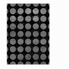 Circles1 Black Marble & Gray Leather Large Garden Flag (two Sides) by trendistuff
