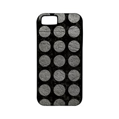 Circles1 Black Marble & Gray Leather Apple Iphone 5 Classic Hardshell Case (pc+silicone) by trendistuff