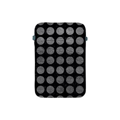 Circles1 Black Marble & Gray Leather Apple Ipad Mini Protective Soft Cases by trendistuff