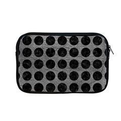 Circles1 Black Marble & Gray Leather (r) Apple Macbook Pro 13  Zipper Case by trendistuff