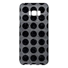 Circles1 Black Marble & Gray Leather (r) Samsung Galaxy S8 Plus Hardshell Case  by trendistuff