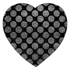 Circles2 Black Marble & Gray Leather Jigsaw Puzzle (heart) by trendistuff