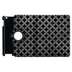 Circles3 Black Marble & Gray Leather Apple Ipad 2 Flip 360 Case by trendistuff