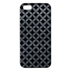 Circles3 Black Marble & Gray Leather Iphone 5s/ Se Premium Hardshell Case by trendistuff