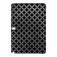 Circles3 Black Marble & Gray Leather Samsung Galaxy Tab Pro 12 2 Hardshell Case by trendistuff