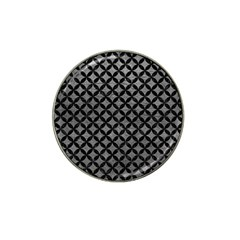 Circles3 Black Marble & Gray Leather (r) Hat Clip Ball Marker by trendistuff