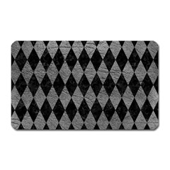 Diamond1 Black Marble & Gray Leather Magnet (rectangular) by trendistuff