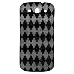 Diamond1 Black Marble & Gray Leather Samsung Galaxy S3 S Iii Classic Hardshell Back Case by trendistuff
