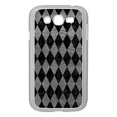 Diamond1 Black Marble & Gray Leather Samsung Galaxy Grand Duos I9082 Case (white)