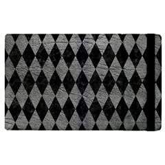 Diamond1 Black Marble & Gray Leather Apple Ipad Pro 12 9   Flip Case by trendistuff