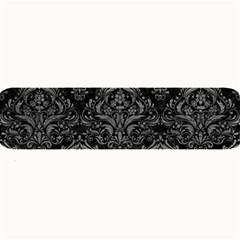 Damask1 Black Marble & Gray Leather Large Bar Mats by trendistuff