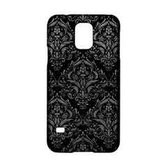 Damask1 Black Marble & Gray Leather Samsung Galaxy S5 Hardshell Case  by trendistuff