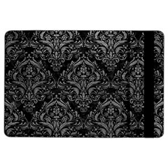 Damask1 Black Marble & Gray Leather Ipad Air 2 Flip