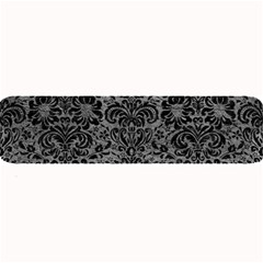Damask2 Black Marble & Gray Leather (r) Large Bar Mats by trendistuff