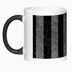 Stripes1 Black Marble & Gray Leather Morph Mugs by trendistuff