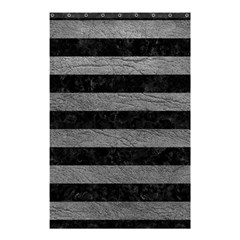 Stripes2 Black Marble & Gray Leather Shower Curtain 48  X 72  (small)  by trendistuff