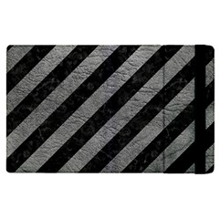 Stripes3 Black Marble & Gray Leather Apple Ipad Pro 9 7   Flip Case by trendistuff