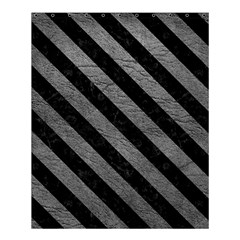Stripes3 Black Marble & Gray Leather (r) Shower Curtain 60  X 72  (medium)  by trendistuff