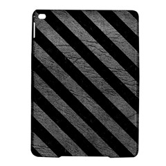 Stripes3 Black Marble & Gray Leather (r) Ipad Air 2 Hardshell Cases by trendistuff