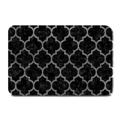 Tile1 Black Marble & Gray Leathertile1 Black Marble & Gray Leather Plate Mats by trendistuff