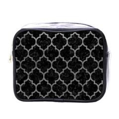 Tile1 Black Marble & Gray Leathertile1 Black Marble & Gray Leather Mini Toiletries Bags by trendistuff
