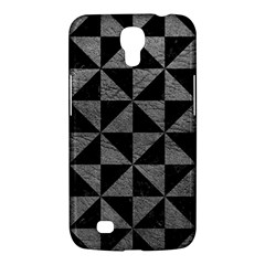 Triangle1 Black Marble & Gray Leather Samsung Galaxy Mega 6 3  I9200 Hardshell Case by trendistuff