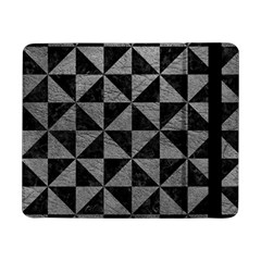 Triangle1 Black Marble & Gray Leather Samsung Galaxy Tab Pro 8 4  Flip Case by trendistuff