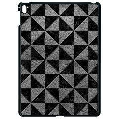 Triangle1 Black Marble & Gray Leather Apple Ipad Pro 9 7   Black Seamless Case by trendistuff