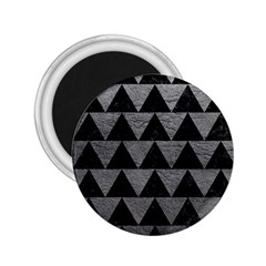 Triangle2 Black Marble & Gray Leather 2 25  Magnets by trendistuff