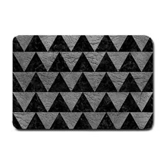 Triangle2 Black Marble & Gray Leather Small Doormat