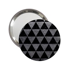 Triangle3 Black Marble & Gray Leather 2 25  Handbag Mirrors by trendistuff