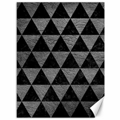 Triangle3 Black Marble & Gray Leather Canvas 36  X 48   by trendistuff