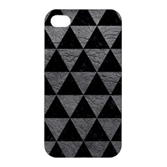 Triangle3 Black Marble & Gray Leather Apple Iphone 4/4s Hardshell Case by trendistuff