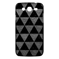 Triangle3 Black Marble & Gray Leather Samsung Galaxy Mega 5 8 I9152 Hardshell Case  by trendistuff