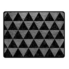 Triangle3 Black Marble & Gray Leather Double Sided Fleece Blanket (small)  by trendistuff