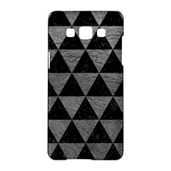 Triangle3 Black Marble & Gray Leather Samsung Galaxy A5 Hardshell Case  by trendistuff
