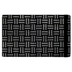 Woven1 Black Marble & Gray Leather Apple Ipad 3/4 Flip Case by trendistuff