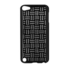 Woven1 Black Marble & Gray Leather Apple Ipod Touch 5 Case (black) by trendistuff